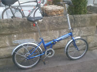 Giant unisex single speed folding bicycle - Town bike
