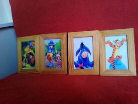 Winnie the Pooh 4 framed pictures