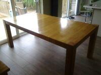 Dinning table in light oak colour