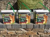 3 x 5l Ronseal one coat sprayable fence life