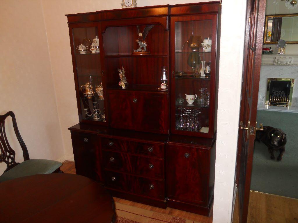 Mahogany Solid Wood Dining Living Room Display Cabinet