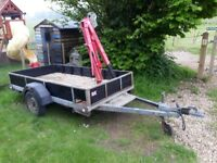 9' x 4.5' trailer goods trailer with or without lifting crane