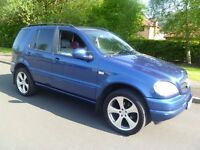 Mercedes ML270 CDi (Turbo Diesel) Brand New M.O.T. Rare Colour. Lovely Condition. PX Possible