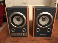 Editor MA-7A Powered Active Monitor Speaker Speakers Pair PA System