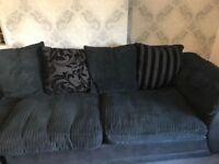 Dfs corner sofa black