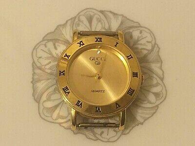 VINTAGE GUCCI Ladies Gold Tone Quartz Watch Swiss parts assembled in Taiwan