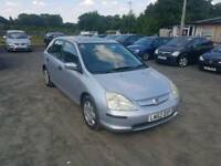Honda civic 1.6L 5dr AUTOMATIC long mot excellent condition