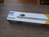 Bathroom towel rail (Croydex CROYDEX FLEXI-FIX PENDLE TOWEL RAIL CHROME)