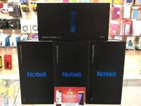 SAMSUNG GALAXY NOTE 8 UNLOCKED BRAND NEW SEALED BOXED COMES WITH 2 YEARS UK SAMSUNG WARRANTY