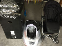 iCandy Apple 2 Pear Black Travel System - Black Caviar - Brand New CarryCot never been used