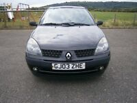 Renault clio 1.2 16v 2003, 9mths mot 1 owner ideal first car
