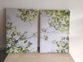 Selection of canvases