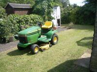 """John Deere LX277Ride on lawnmower 38"""" Cut Mower"""