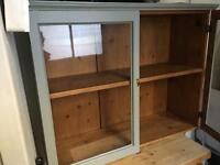 Pitch pine wall cupboard