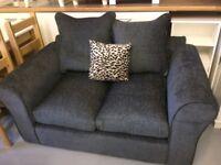 Brand New Dark Grey Charcoal Fabric 2 Seater Sofa Perfect