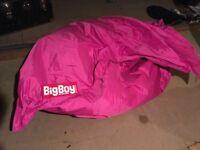 Big Boy pink bean bag