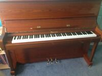 LIPPMANN WALNUT UPRIGHT GLOSS PIANO MODEL 123 - ONLY 4 YEARS OLD - IMMACULATE