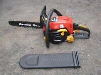 """Homelite Petrol Chainsaw 14"""" Bar & Chain"""