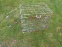 WIRE PET CAGE SOME RUST SIZE 30INS X 20INS X 24INS APPROXIMATELY
