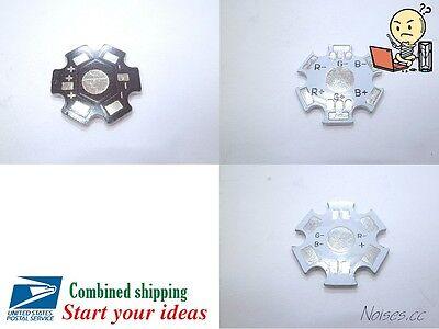 5pcs 20mm 2pin 4pin 6pin Rgb Led Aluminum Base Heatsink 1w 3w Black High Power