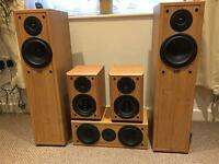 Altax five speaker system plus Bose v10 centre speaker plus Yamaha hdmi amp and Yamaha sub