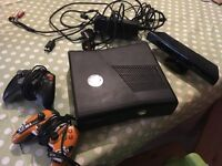 Xbox 360 & kinect. Fab condition. Includes 2 controllers and some games