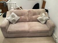 Excellent condition, sofa bed DFS 2 seate, Come with 2 matching cushions in the picture.