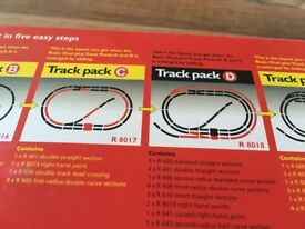 Hornby system track packs C and D. These packs are brand new and unopened.