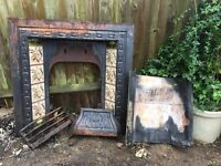 Victorian Fireplace and original tiles
