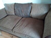 FREE Deep cushioned brown 3 seater.