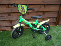 TEENAGE MUTANT NINJA TURTLE BIKE 2 - 5 YEAR OLDS NEW CONDITION CAN DELIVER
