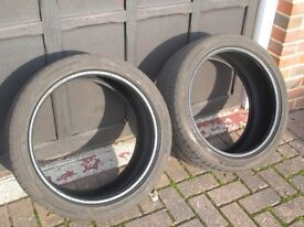 PAIR OF CONTINENTAL SPORT CONTACT 2 TYRES :: 225 40 ZR 18 N2 PORSCHE FITMENT