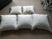 5 Large soft cushions for propping up in bed