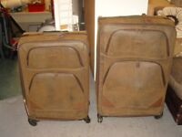 Pair of Large Kangol Trolley Cases in Faux Leather