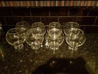 Wedding 8 glass bowls/party table center. Used once.