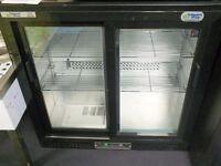 Parry double glass slidding door back bar fridge (new)