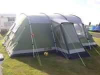 Outwell Montana 6 Tent, Footprint Groundsheet And Carpet - Excellent Condition