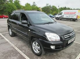 Kia Sportage 4x4 XS, 2.0L Petrol, Full Black Leather, May MOT, Just Serviced, 1 Lady Owner from New