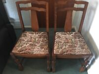 2x Vintage Dining Chairs