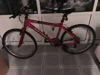 Red Carrera Road Bike for sale - excellent condition rarely used