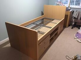 Children's Single Bed Unit For Sale - In Great Condition