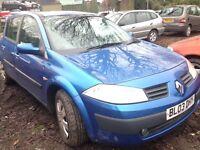 2003 Renault Megane MK2 1.9 DCI 120 5dr blue TEI45 te145 BREAKING FOR SPARES