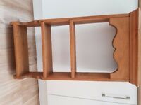Hand made pine wall shelving unit