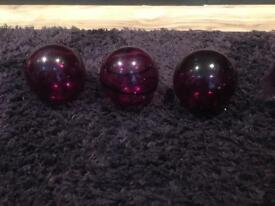 Next glass purple balls