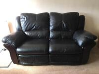 2 Seater & Single Seater Leather Recliner Sofas