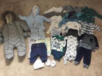 Big bundle of baby boys clothes (0-3 months)
