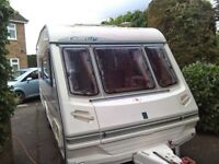 Abbey Oxford 2000 4 berth Caravan 1040 unladen weight 1280 laden