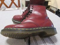 DR MARTENS BOOTS (LADIES 2 pairs/maroon and white)
