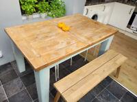 Oak kitchen table (4-8 seater)