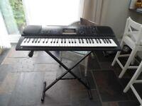 Casio CTK-611 Keyboard and stand